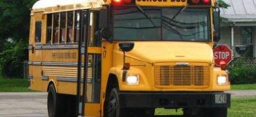 School Bus in School Zone