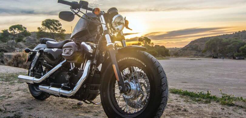 Motorcycle on dirt road